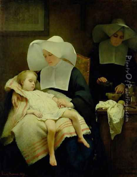 The Sisters of Mercy 1859 Oil Painting - Henriette, Hon. R.I. Browne