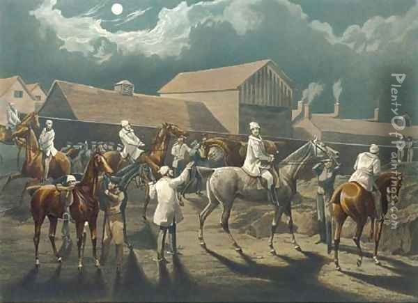 The first steeple chase on record (Siltzer 63) by J. Harris Oil Painting - Henry Alken