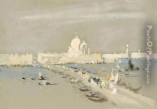 Procession of the Redentore, Venice Oil Painting - Hercules Brabazon Brabazon