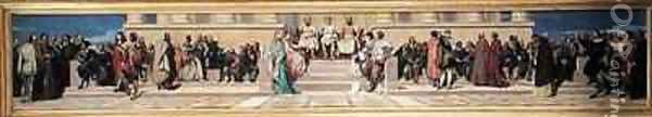 Hemicycle of the Ecole des Beaux Arts Oil Painting - Hippolyte (Paul) Delaroche