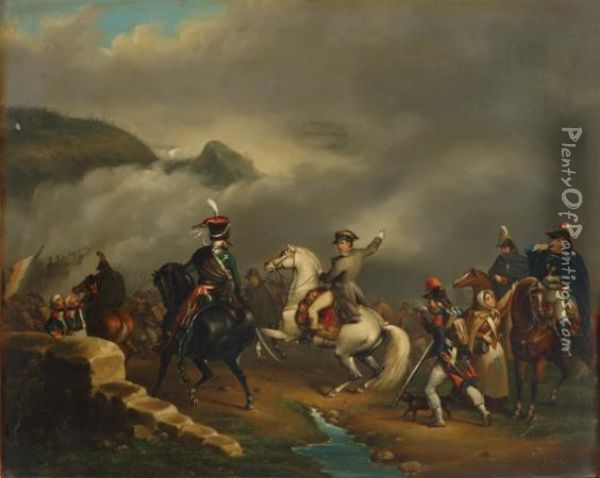 The Passage Of The Alps Oil Painting - Horace Vernet