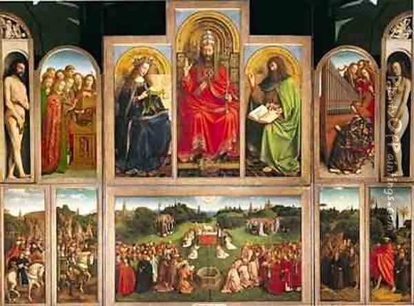 The Ghent Altarpiece 2 Oil Painting - Hubert & Jan van Eyck