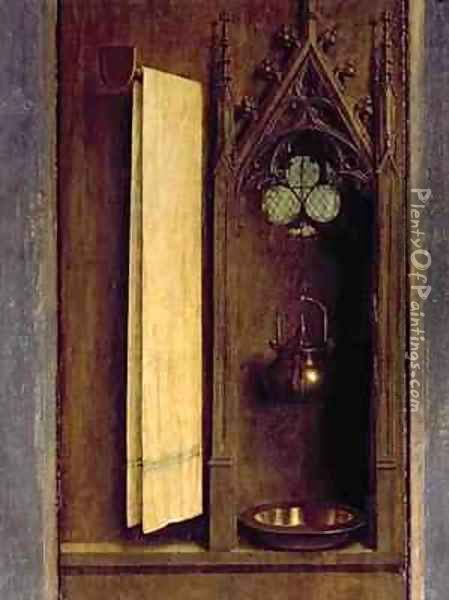 The Ghent Altarpiece detail from the exterior of the right shutter Oil Painting - Hubert & Jan van Eyck