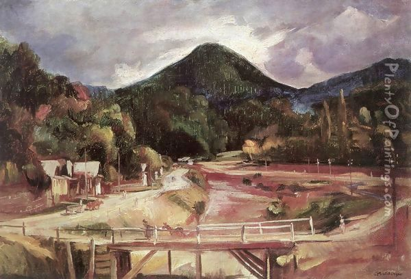 Bridge in the Valley 1929 Oil Painting - Imre Amos