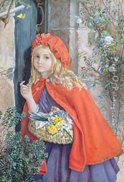 Little Red Riding Hood 1862 Oil Painting - Isabel Oakley Naftel