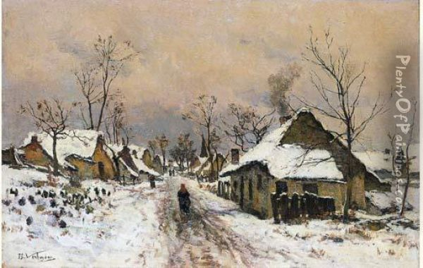 Hiver A Hoeylaert 1891 Oil Painting Reproduction By