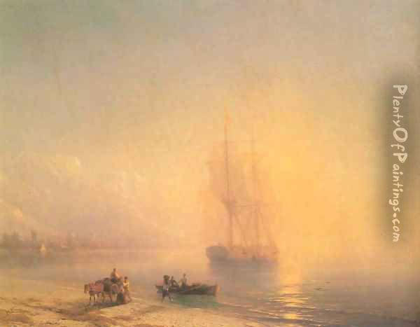Calm sea Oil Painting - Ivan Konstantinovich Aivazovsky