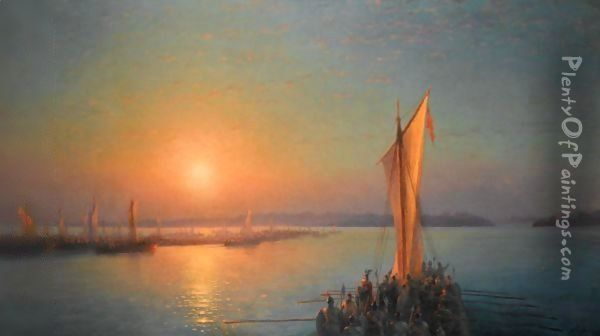 The Varangians On The Dnieper Oil Painting - Ivan Konstantinovich Aivazovsky