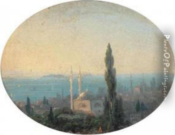 View Over Istanbul Oil Painting - Ivan Konstantinovich Aivazovsky