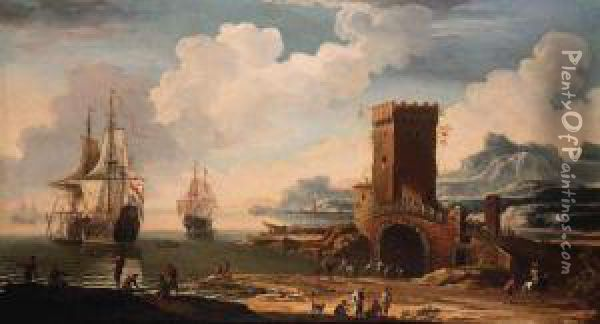 A Mediterranean Harbour With A 