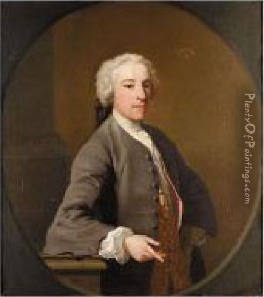 Portrait Of William Bateman, 1st Viscount Bateman Of Shobdon (c. 1700-1744) Oil Painting - Jacopo (Giacomo) Amigoni