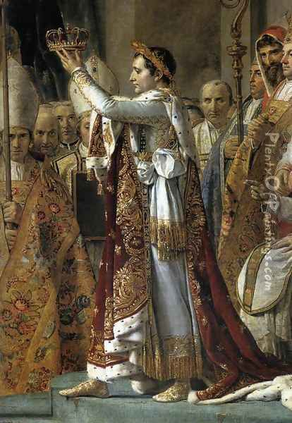 Consecration of the Emperor Napoleon I (detail 1) 1805-07 Oil Painting - Jacques Louis David