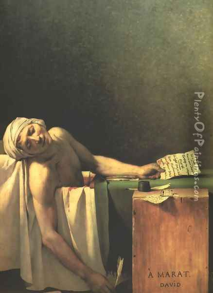 Death of Marat Oil Painting - Jacques Louis David