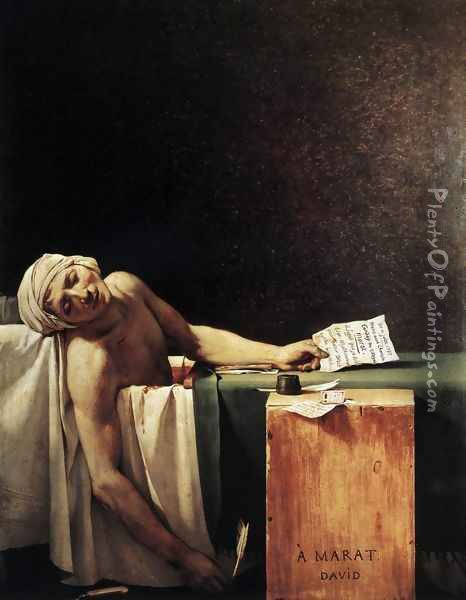The Death of Marat 1793 Oil Painting - Jacques Louis David