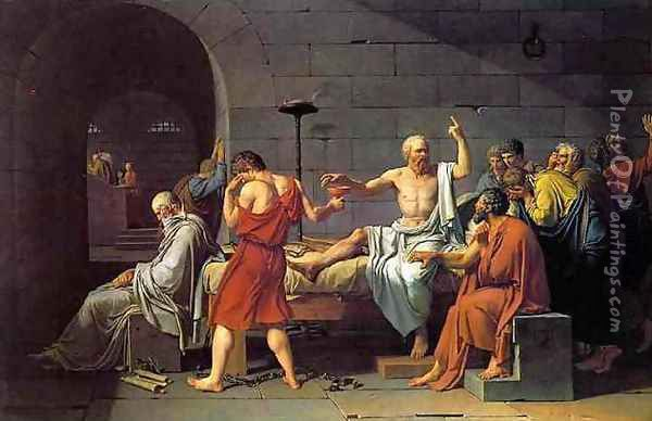 The Death of Socrates Oil Painting - Jacques Louis David
