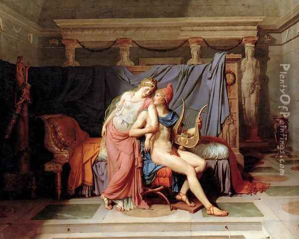 The Loves of Paris and Helen 1788 Oil Painting - Jacques Louis David