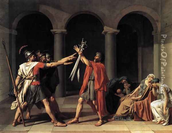 The Oath of the Horatii 1784 Oil Painting - Jacques Louis David