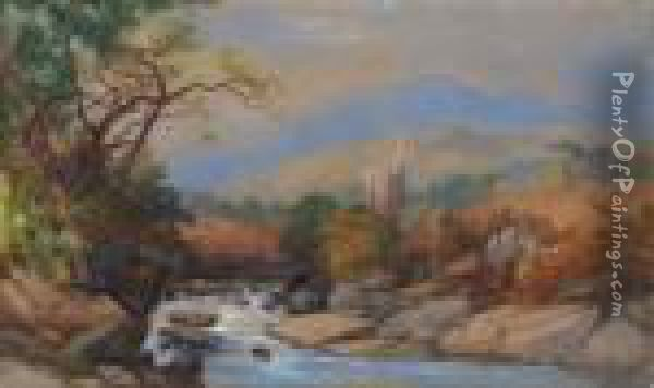 A View In Cumberland Oil Painting - James Burrell-Smith