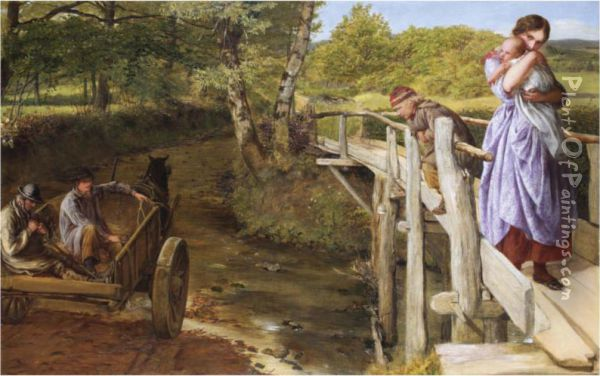 The Brook Oil Painting - James Clark Hook