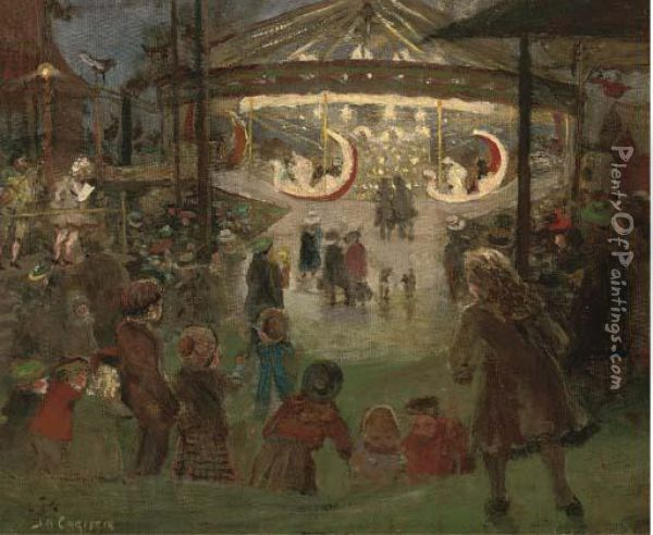 At The Carnival Oil Painting - James Elder Christie