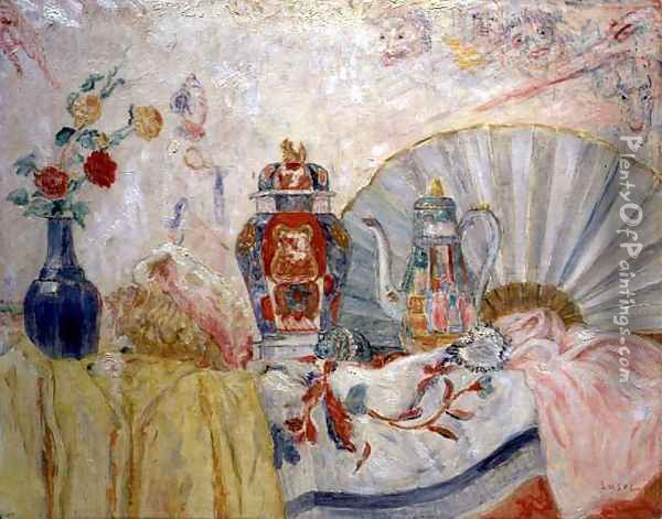 Still Life with Chinese Pottery, 1929 Oil Painting - James Ensor