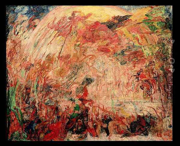 The Fall of the Rebel Angels, 1889 Oil Painting - James Ensor
