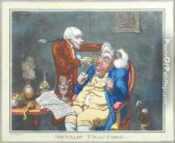 11 Plates From The Caricatures Ofgillray Oil Painting - James Gillray