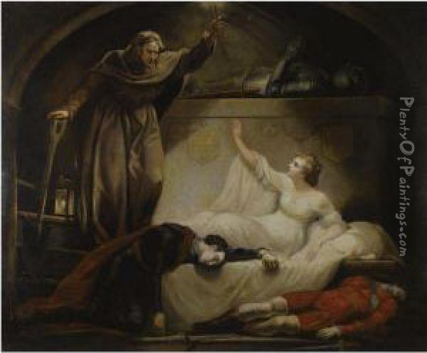 Friar Lawrence At Capulet's Tomb Oil Painting - James Northcote