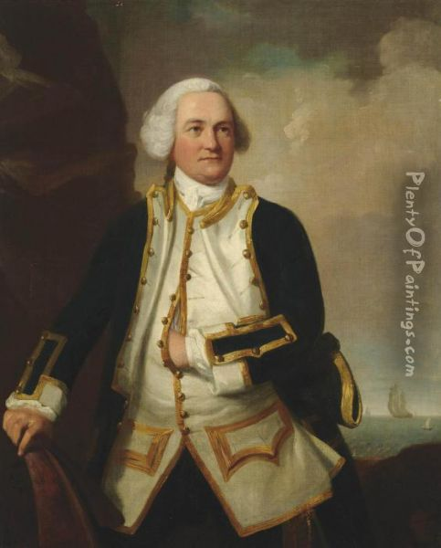 Portrait Of Admiral Samuel Graves Oil Painting - James Northcote