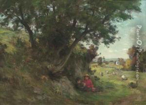 A Summer's Day Oil Painting - James Riddel
