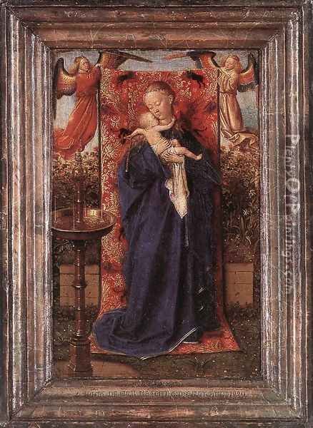 Madonna and Child at the Fountain 1439 Oil Painting - Jan Van Eyck
