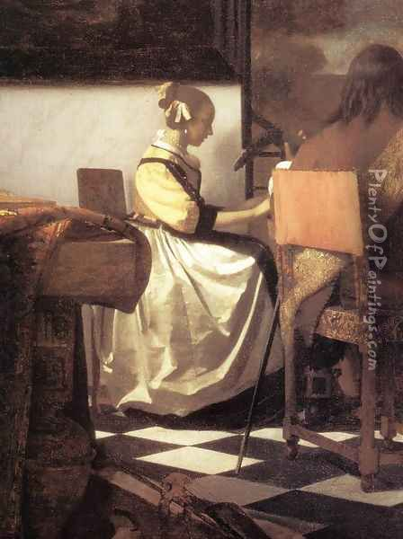 The Concert [detail: 1] Oil Painting - Jan Vermeer Van Delft