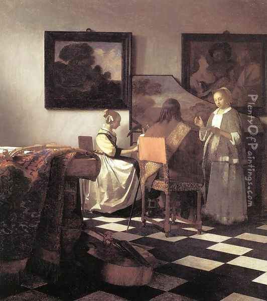 The Concert 1665-66 Oil Painting - Jan Vermeer Van Delft