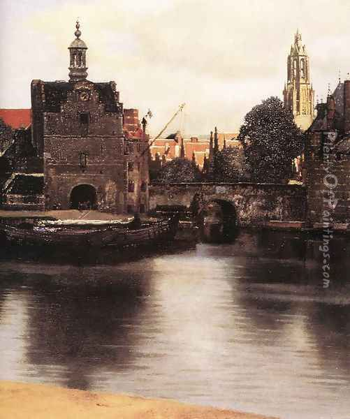 View of Delft (detail-3) 1659-60 Oil Painting - Jan Vermeer Van Delft