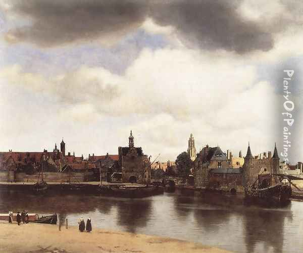 View of Delft 1659-60 Oil Painting - Jan Vermeer Van Delft
