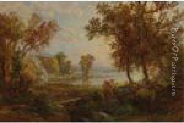 Autumn Scenery Oil Painting - Jasper Francis Cropsey