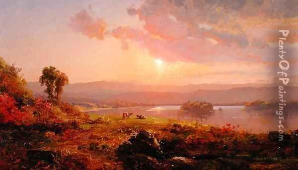 Susquehanna River, 1876 Oil Painting - Jasper Francis Cropsey