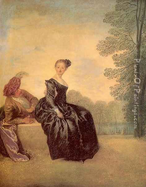 The Sulky Woman 1719 Oil Painting - Jean-Antoine Watteau