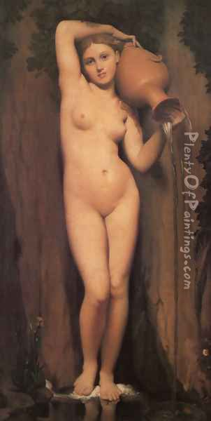 La Source (The Source) Oil Painting - Jean Auguste Dominique Ingres