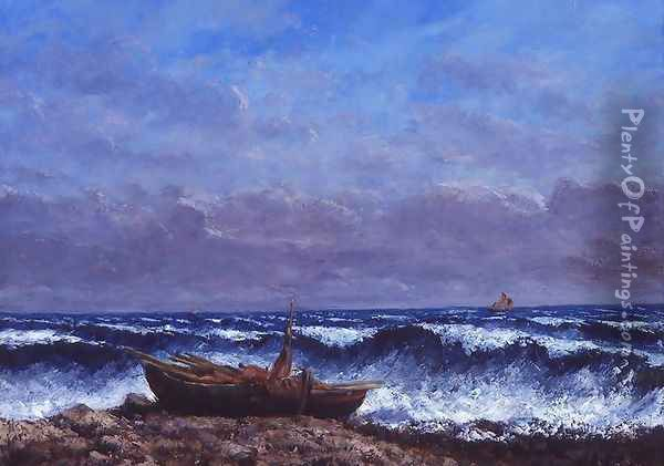 The Stormy Sea or, The Wave Oil Painting - Jean-Baptiste-Camille Corot