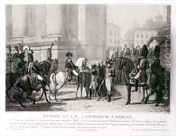 The Entrance of Napoleon into Berlin in October 1806 Oil Painting - Jean Baptiste Debret