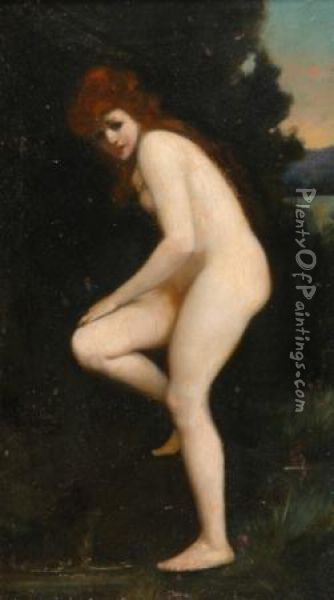 The Bather, Circa Oil Painting - Jean-Jacques Henner