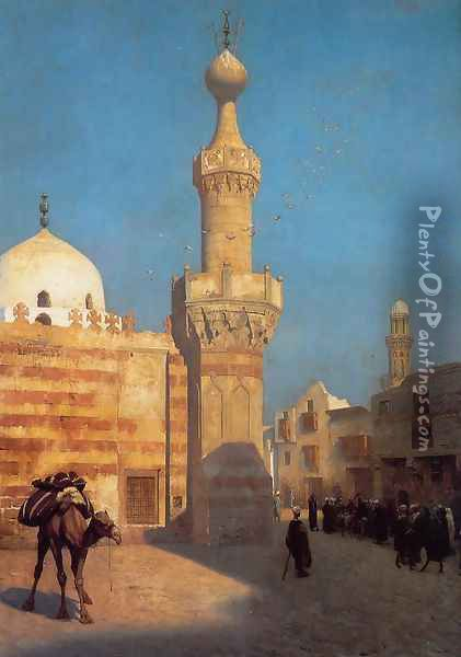 A View of Cairo Oil Painting - Jean-Leon Gerome