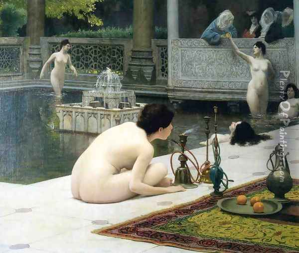 Allumeuse de Narghilé (The Teaser of the Narghile) (or The Pipelighter) Oil Painting - Jean-Leon Gerome