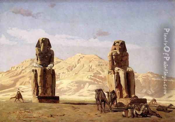 Memnon and Sesostris, (study) Oil Painting - Jean-Leon Gerome