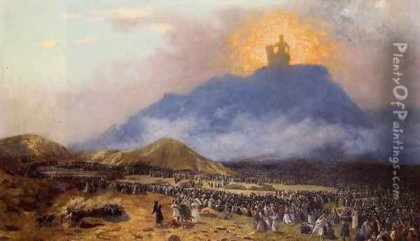 Moses on Mount Sinai Oil Painting - Jean-Leon Gerome