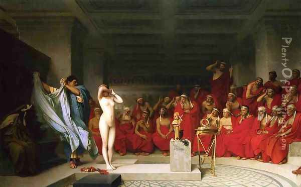 Phryné before the Areopagus Oil Painting - Jean-Leon Gerome