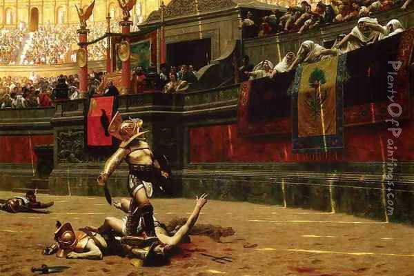 Pollice Verso (Thumbs Down) Oil Painting - Jean-Leon Gerome