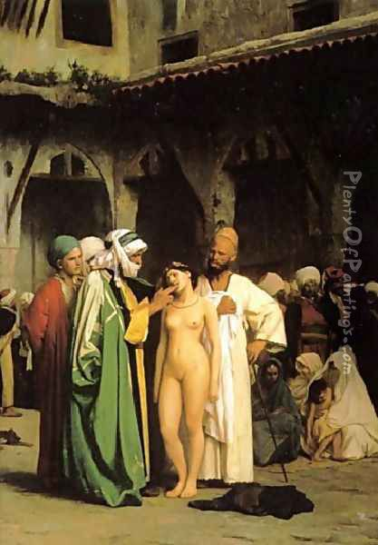 Slave Market (or For Sale) Oil Painting - Jean-Leon Gerome