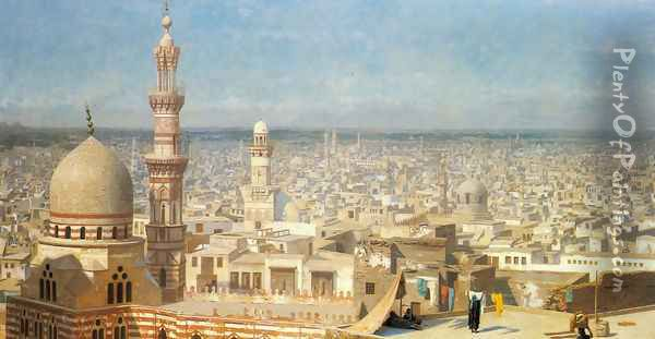 View Of Cairo Oil Painting - Jean-Leon Gerome
